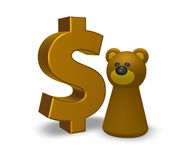 Dollar and bear Royalty Free Stock Image