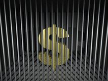 Dollar Behind Bars Stock Images