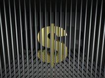 Dollar Behind Bars. 3d render illustration of an imprisoned dollar symbol Stock Images