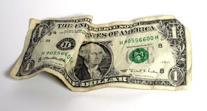 Dollar bill. One dollar bill/note usa currency royalty free stock photography