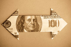 Dollar Bill Arrow Royalty Free Stock Photo