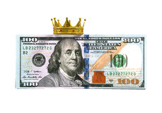 Dollar Bill With Crown Stock Photos