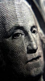 1 Dollar Bill. George Washington's face on a 1 dollar bill Royalty Free Stock Photography