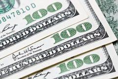 100 dollar bill. Macro shot of a 100 dollar bill Stock Images