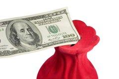 Dollar bill in a money-box Royalty Free Stock Image