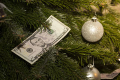Dollar bill. 5. New Year Royalty Free Stock Images