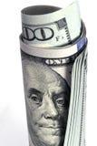 Dollar bill. One hundred dollar bill with benjamin franklin image Stock Photos