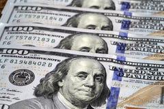 Dollar bill. One hundred dollar bill with benjamin franklin image Royalty Free Stock Photos
