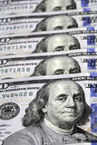 Dollar bill. One hundred dollar bill with benjamin franklin image Royalty Free Stock Images