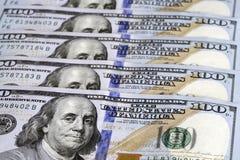 Dollar bill. One hundred dollar bill with benjamin franklin image Royalty Free Stock Photography