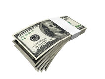 Dollar bill pack 2 f1s Royalty Free Stock Photos
