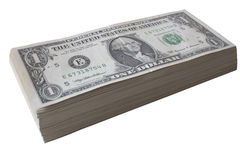 Dollar bill pile Stock Photos