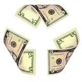 Dollar Bill Recycle Sign lizenzfreie stockbilder