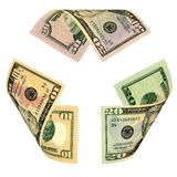 Dollar Bill Recycle Sign Royalty Free Stock Images