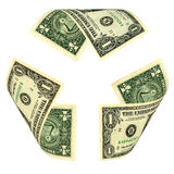 Dollar Bill Recycle Sign Royalty Free Stock Photos