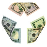 Dollar Bill Recycle Sign Stock Photos