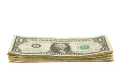 Dollar Bill Stack. A stack of one dollar bills Stock Image