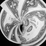 2 Dollar Bill Swirl Lizenzfreie Stockbilder