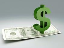 Dollar bill and symbol stock illustration