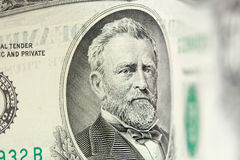 50 dollar bill. Ulysses Grant american president on 50 dollar bill royalty free stock images
