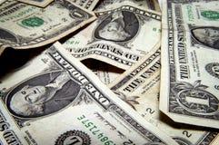 Dollar bills. Stack of one dollar bills Royalty Free Stock Photos