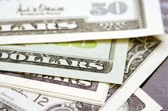 Dollar Bills. An array of American dollar bills Stock Photography