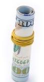Dollar bills. Pack of dollar bills on white background Royalty Free Stock Photo