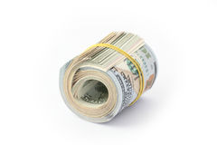 Dollar bills. Pack of dollar bills on white background Stock Image