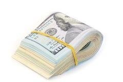 Dollar bills. Pack of dollar bills on white background Royalty Free Stock Photos