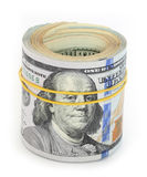Dollar bills. Pack of dollar bills on white background Royalty Free Stock Images