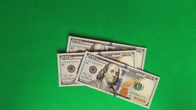 Dollar bills appear and disappear stock video