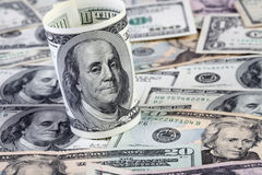 Dollar bills background Stock Photos