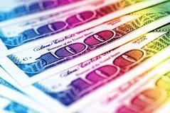 Dollar bills background Stock Photos