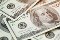 100 dollar bills background Royalty Free Stock Photo