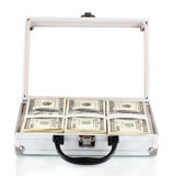 dollar bills in a case Stock Photo