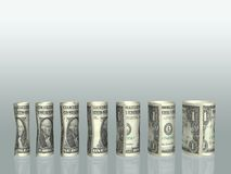 Dollar bills chart Stock Photos