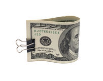 Dollar bills with clip Royalty Free Stock Images