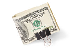 Dollar Bills With Clip Royalty Free Stock Image