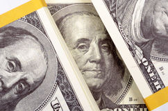 The dollar bills close-up Royalty Free Stock Photography