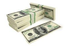 100 Dollar bills. 3D rendering of dollar bills Royalty Free Stock Image