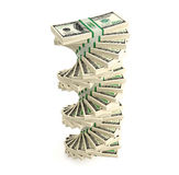 100 Dollar bills. 3D rendering of dollar bills Stock Photo
