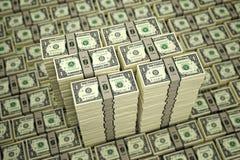 1 Dollar bills Stock Photo