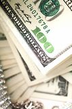 Dollar bills with diamonds detail Stock Image