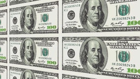 100 dollar bills in distance 3d perspective Stock Photos