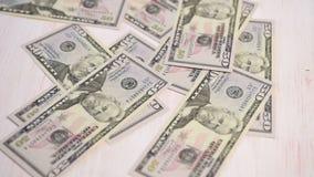 Dollar bills falling stock video footage