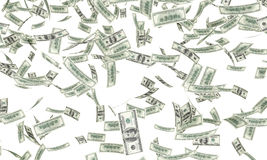 Dollar bills falling royalty free stock image