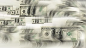Dollar bills flying, stock footage. Video stock video