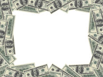 Dollar bills frame Royalty Free Stock Photography