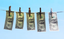 1 dollar bills Royalty Free Stock Photography