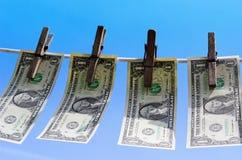 1 dollar bills Royalty Free Stock Photos